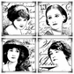 Crafty Individuals Unmounted Rubber Stamp - Parisian Beauties