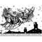 Crafty Individuals Unmounted Rubber Stamp - Santa's Sleigh Ride