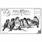 Crafty Individuals Unmounted Rubber Stamp - Seven Cheeky Songbirds