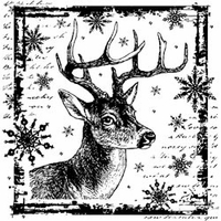 Crafty Individuals Unmounted Rubber Stamp - Snowflake Rudolph