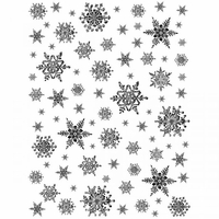 Crafty Individuals Unmounted Rubber Stamp - Snowflakes Background