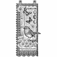 Crafty Individuals Unmounted Rubber Stamp - Springtime Robin