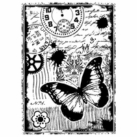 Crafty Individuals Unmounted Rubber Stamp - Steampunk Butterfly
