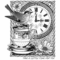 Crafty Individuals Unmounted Rubber Stamp - Tea At Three