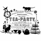 Crafty Individuals Unmounted Rubber Stamp - Tea Party Ticket