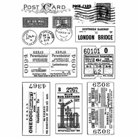 Crafty Individuals Stamp - Vintage Tickets and Postmarks