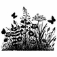 Crafty Individuals Unmounted Rubber Stamp - Wild Flowers & Butterflies