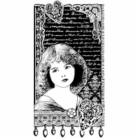 Crafty Individuals Unmounted Rubber Stamp - Young Girl Dreaming