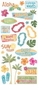 Creative Imaginations Jumbo Stickers - Island Paradise Clear