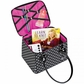 Creative Options Crafter's Tapered Tote - Black/Magenta/White w/Dots