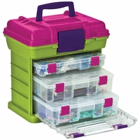 "Grab'n Go 3-By Rack System 13""x10""x14"" - Green/Magenta"