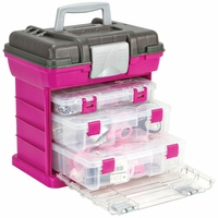 Creative Options Grab'n Go 3-By Rack System - Magenta/Sparkle Gray