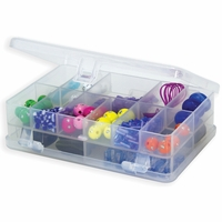 Micro Double Utility Box - 14 Fixed Compartments, Clear