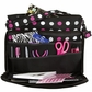 Creative Options Project Tote - Black/Magenta/White Polka Dot