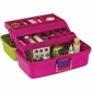 Creative Options Two-Tray Craft Box - Green/Magenta/Purple