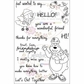 "Creative Vision Clear Stamps 4""x6"" - Hello Hunny"