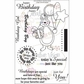 """Creative Vision Clear Stamps 4""""x6"""" - Hip Hip Hooray"""