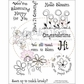 "Creative Vision Clear Stamps 6""x8"" Blooming Happy"