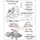 "Creative Vision Clear Stamps 6""x8"" Bunny Trail"