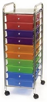 Cropper Hopper Home Storage Rolling Organizer - 10 Drawer Multi