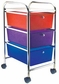 Cropper Hopper Home Storage Rolling Organizer - 3 Drawer Multi