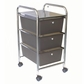 Cropper Hopper Home Storage Rolling Organizer - 3 Drawer Smoke