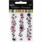 Mark Richards Crystal Cluster Stickers - Round Clear/Hot Pink/Black