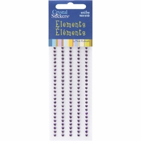 Mark Richards Crystal Stickers - Elements/3mm Round/Purple