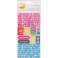 Cut & Paste Remarks Tiny Alpha Cardstock Stickers  - Typed Transparent