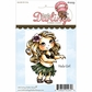 Cutie Pies Unmounted Rubber Stamp - Hula Girl
