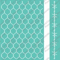 "Cuttlebug 5""x7"" Embossing Folder/Border Set - Chicken Wire"