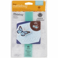 "Cuttlebug 5""x7"" Embossing Folder/Border Set - Feather By Anna Griffin"