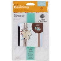 "Cuttlebug 5""x7"" Embossing Folder/Border Set - Flute Damask By Anna Griffin"