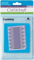 "Cuttlebug 5""x7"" Embossing Folder - Scalloped Edge Lace"