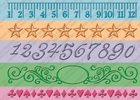 "Cuttlebug 7"" Border Embossing Folder - Measure by Measure"