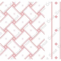 Cuttlebug A2 Embossing Folder/Border Set - Anna Griffin Matelasse