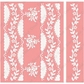 Cuttlebug A2 Embossing Folder/Border Set - Anna Griffin Organdy Stripe