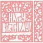 Cuttlebug A2 Embossing Folder/Border Set - Birthday Party