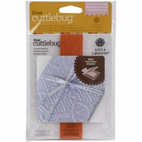 Cuttlebug A2 Embossing Folder/Border Set - Crown Medallion By Anna Griffin