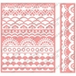 Cuttlebug A2 Embossing Folder/Border Set - Deco Scallops