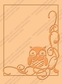 Cuttlebug A2 Embossing Folder - Owl Flourish