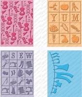 Cuttlebug Cricut Companion Embossing Folder Bundle - Country Life