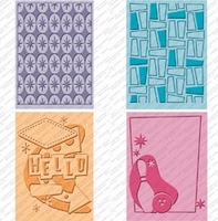 Cuttlebug Cricut Companion Embossing Folder Bundle - Nifty Fifties