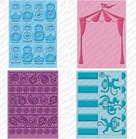 Cuttlebug Cricut Companion Embossing Folder Bundle - Paisley