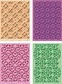 Cuttlebug Cricut Companion Embossing Folder Bundle - Paper Lace 2