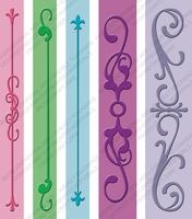 Cuttlebug Embossing Folder Border Set - Iron Works