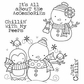 Darcie's Cling Mounted Rubber Stamp Set - Chillin' Peeps
