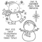 Darcie's Cling Mounted Rubber Stamp Set - Christmas Wishes