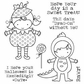 Darcie's Cling Mounted Rubber Stamp Set - Exceedingly Cute