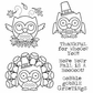 Darcie's Cling Mounted Rubber Stamp Set - Fall Is A Hoot